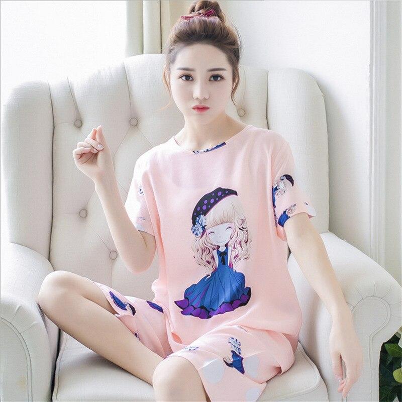 Pajamas   for Women Short Sleeve   Pajamas   Summer Women Summer   Pajama     Sets   Pijama Sleepwear Pyjamas Plus Size Nightwear   Set   Pj   Set
