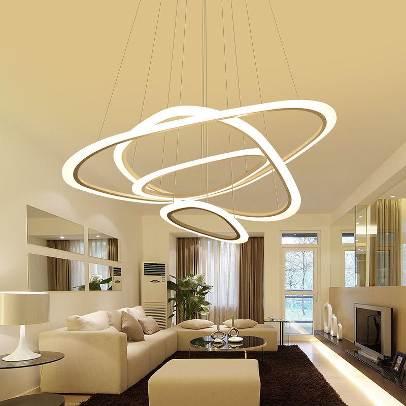 Free Shipping Modern Chandelier For Dining Room Nordic Simplicity Acrylic LED Chandelier Lighting light цена