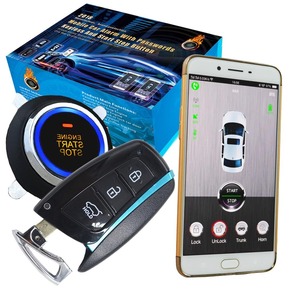 Автомобильный gps трекер функция автоматическое зажигание без ключа вход мобильное приложение с удаленным двигателем старт стоп Функция со