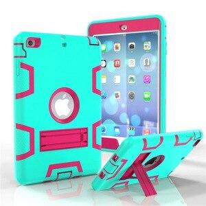 Image 5 - Moda pancerz Case dla iPad mini 1 2 3 Kid bezpieczne Heavy Duty silikonowa twarda okładka dla iPad mini 1 2 3 7.9 cal Tablet Case + Film + długopis
