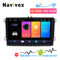 Navivox 9 2 Din Android 9.0 Car Multimedia Player For Volkswagen SKODA Seat GOLF 5 Golf 6 POLO PASSAT B5 B6 TIGUAN Car DVD GPS
