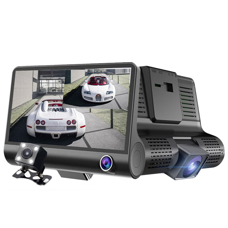 2 in 1 Triple Lens Radar Detector DVR Dash Cam Safety Speed Control Voice System Vehicle Radar Detection 3 Cameras Car Recorders ...
