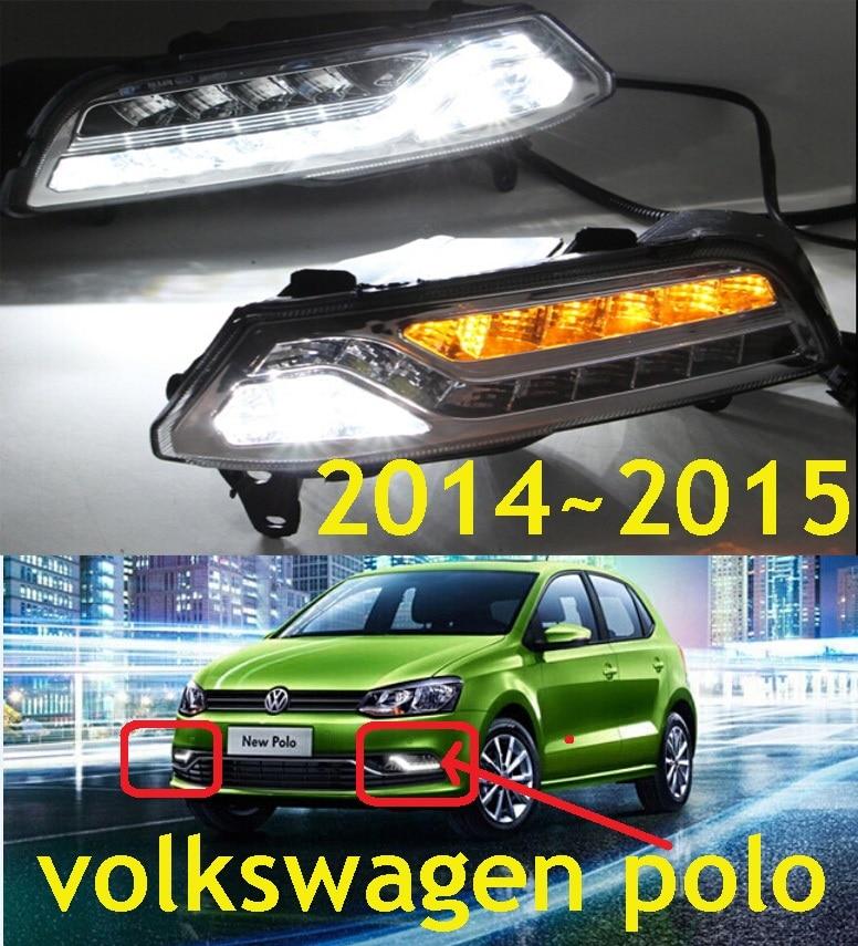 ФОТО Car-styling,POLO daytime light,2015~2016,chrome,LED,Free ship!2pcs,POLO fog light,car-covers,POLO