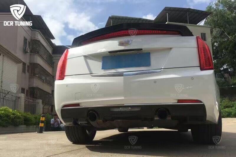 For Cadillac ATS Spoiler D3 Style Carbon Fiber Rear Trunk Wing 4-Doors Sedan 2015 2016 2017 (2)