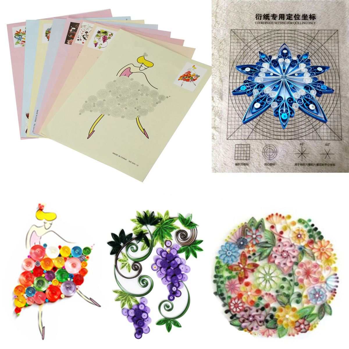 Kitchen Set Quilling: Aliexpress.com : Buy 18PCS DIY Release Drawing Locating
