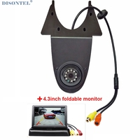 Car Brake Light Rear View Backup Camera For Mercedes Benz Sprinter Volkswagen VW Crafter With 4.3 LCD Monitor