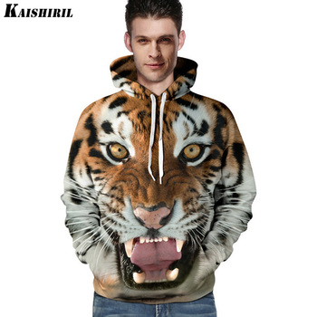 Men's Hoodies Sweatshirt 3D Tiger Lion Print