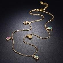 2021 Новое летнее Стильное ожерелье с подвеской в виде заявление