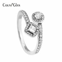 Натуральная 925 пробы-серебро-ювелирные изделия Кольца для Для женщин DIY Создание абстрактного элегантность кольцо серебро 925 ювелирные изделия оптом