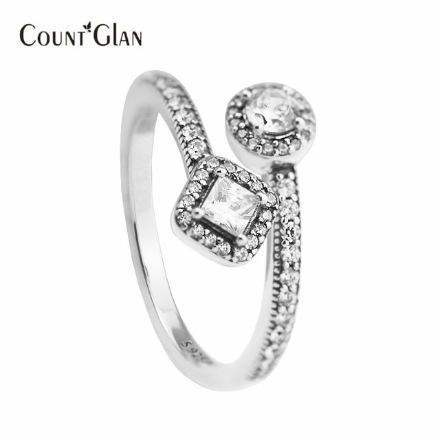 Genuine 925 Sterling-Silver-Jewelry Rings for Women DIY Making Abstract Elegance Ring Silver 925 Jewelry Wholesale