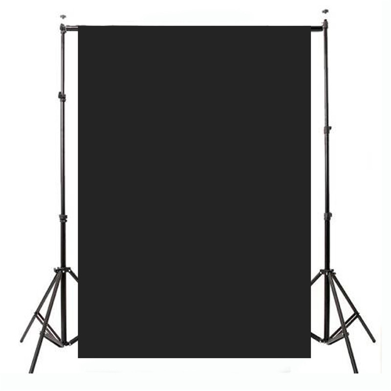 5x7ft Thin Vinyl Black Photography Background For Studio Photo Props Plain Black Photographic Backdrops cloth 1.5x2.1m акустика центрального канала paradigm studio cc 490 v 5 piano black