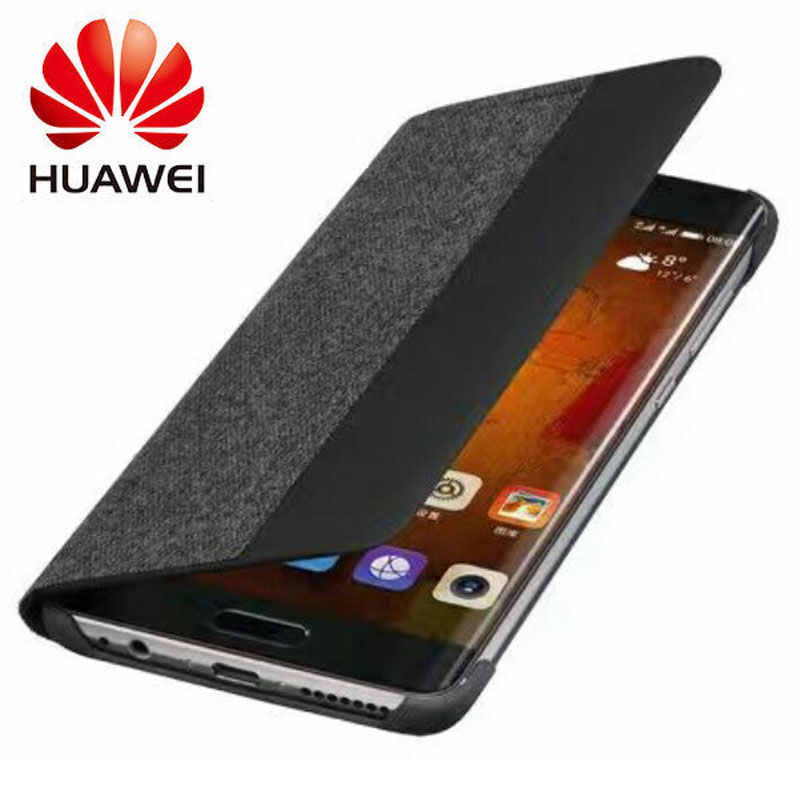"""imágenes para Huawei mate 9 pro case 100% inteligente de la marca original ventana flip case funda de cuero para huawei mate 9 pro (5.5 """"pulgadas)"""
