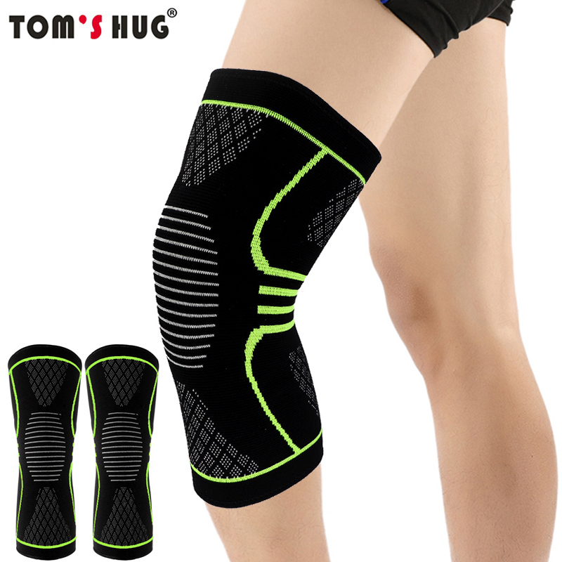 1 Pcs Knee Sleeve Support Protector Sport Kneepad Tom's Hug Brand Fitness Running Cycling Braces High Elastic Gym Knee Pad Warm(China)