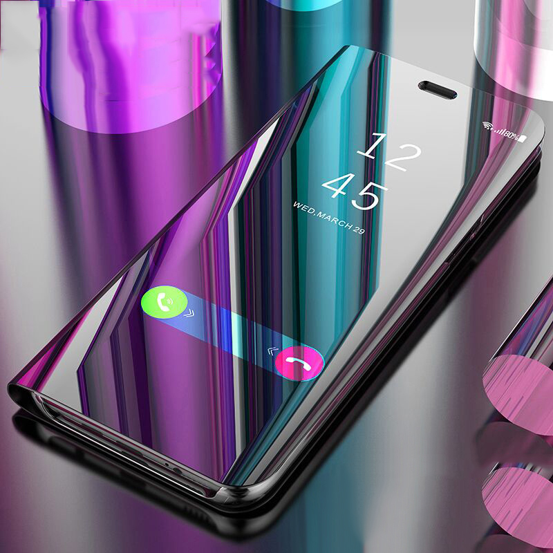 Purple - Mirror Flip Case For Huawei P Smart P20 P10 Mate