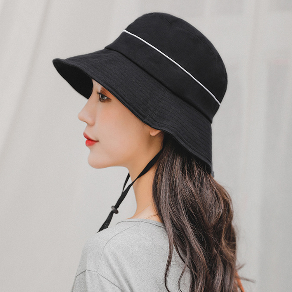 7ad83c7ec7e 2019 New Women Sun Hat Cotton Wide Brim Anti UV Bucket Hat Casual Spring  Summer Foldable Beach Hat Dropshipping-in Sun Hats from Apparel Accessories  on ...