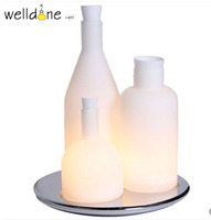Modern Vase Glass Table Lamp glass Shade Light Bedroom Desk Lighting living room bedroom study party home decoration l