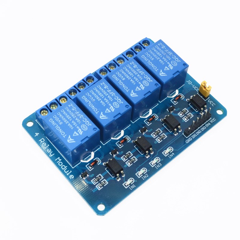 5V 4-Channel Relay Module Shield for Arduino ARM PIC AVR DSPs