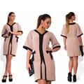 Модный Стиль Женщины Dress Большой Размер Новый 2017 Плюс Размер Женская Одежда L-6XL Летний Dress Вскользь Офис Свободные Dress