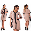 Estilo de moda de verano las mujeres dress tamaño grande nuevo 2017 plus tamaño ropa l-6xl summer dress oficina ocasional floja dress