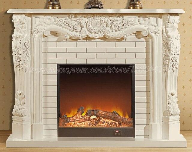 europischen stil wohnzimmer schmcken erwrmung kamin w150cm holz kaminsims plus elektroeinsatz led optische knstliche flamme - Bilder Von Kaminkaminsimse