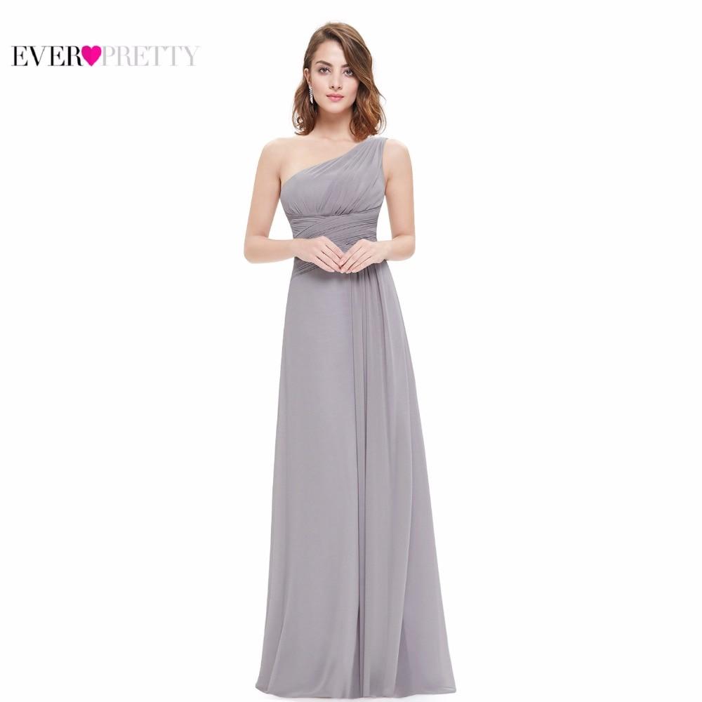Chiffon Evening Dresses Ever Pretty EP09905 Elegant One Shoulder A line 2017 Vestidos Chiffon Formal Party