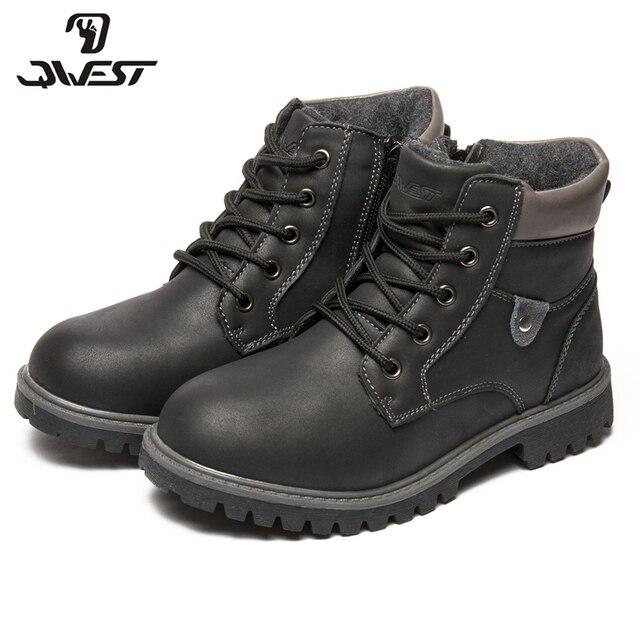 QWEST (by FLAMINGO)/осенне-зимние теплые ботинки высокого качества на шнуровке, нескользящая детская обувь для мальчиков, бесплатная доставка, 82B-SW-0894