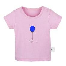 Dream Up Ballon/белые футболки для новорожденных с надписью «Find Your Tribe And Love Them» однотонные футболки с короткими рукавами и графикой для малышей