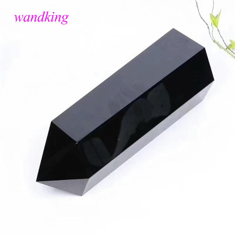 Baguette en cristal de Quartz obsidienne naturelle 2500g (260*80mm)Baguette en cristal de Quartz obsidienne naturelle 2500g (260*80mm)