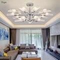 Современные светодиодные люстры со льдом  хромированные металлические люстры для гостиной  подвесные светильники для спальни  подвесные с...