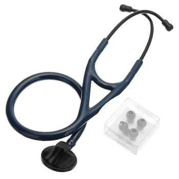 Pojedynczy klosz stetoskop ciśnienia krwi profesjonalny akustyczny kardiologia serca i płuc medyczny Estetoscopio dla lekarzy pielęgniarek tanie i dobre opinie Single Head Stethoscope PVC+Zinc alloy Blue Black 70cm