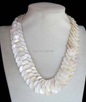 white sea shell coin handcraft necklace 19inch nature FPPJ wholesale for woman wedding