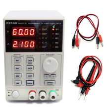 KORAD KA6002P 60V2A Adjustable Programmable Power Supply Digital Control DC Regulated Power Supply RS232 USB Interface saike 1503d dc regulated power supply 15v 3a regulated adjustable laboratory power supply with usb interface