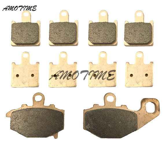 Motorcycle Parts Copper Based Sintered Motor Front & Rear Brake Pads For Kawasaki ZX6R ZX-6R 2007-2014 08 09 10 11 12 13 motorcycle parts copper based sintered motor front