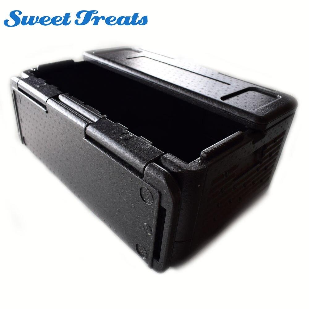 Sweettreats refrigerador 60 latas, plegable, aislados, portátil, impermeable al aire libre caja de almacenamiento termoeléctrico fresco caja