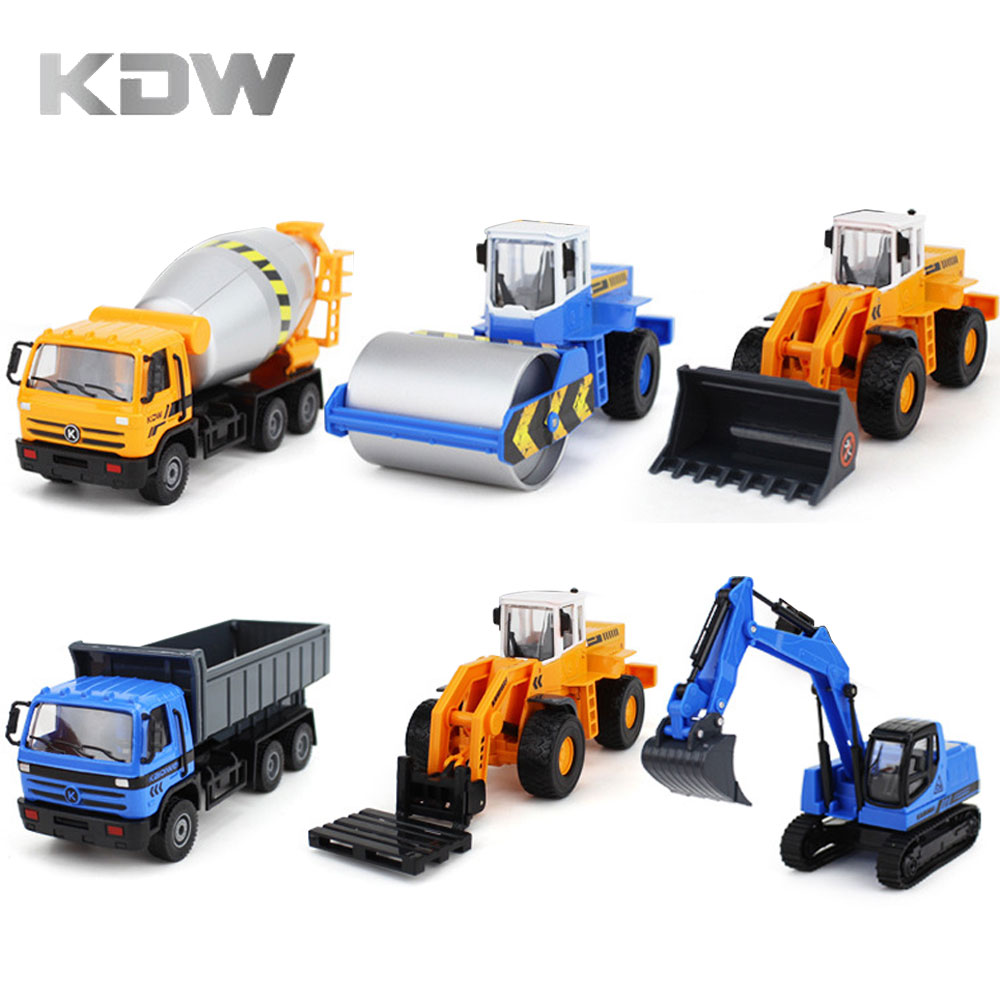 Dump Trucks Construction Vehicle Cars Model Toys 1:50 Scale Diecast KDW with box
