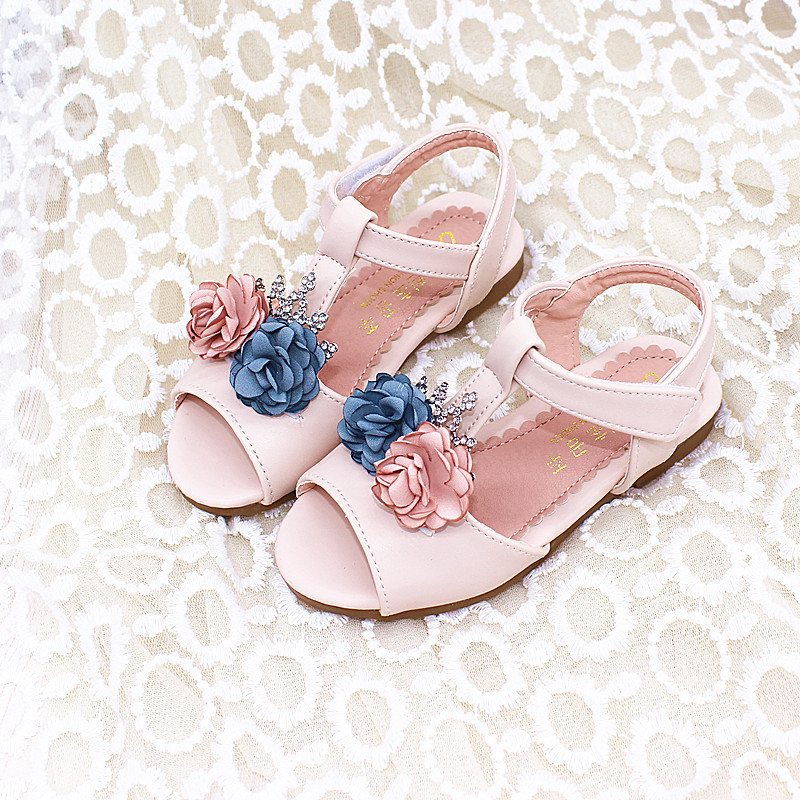 Childrens Toddler Sandals Summer New Girls Fashion Crown Flowers Princess Heels Baby Dancing Shoes Eur 26 - 30 #2Childrens Toddler Sandals Summer New Girls Fashion Crown Flowers Princess Heels Baby Dancing Shoes Eur 26 - 30 #2
