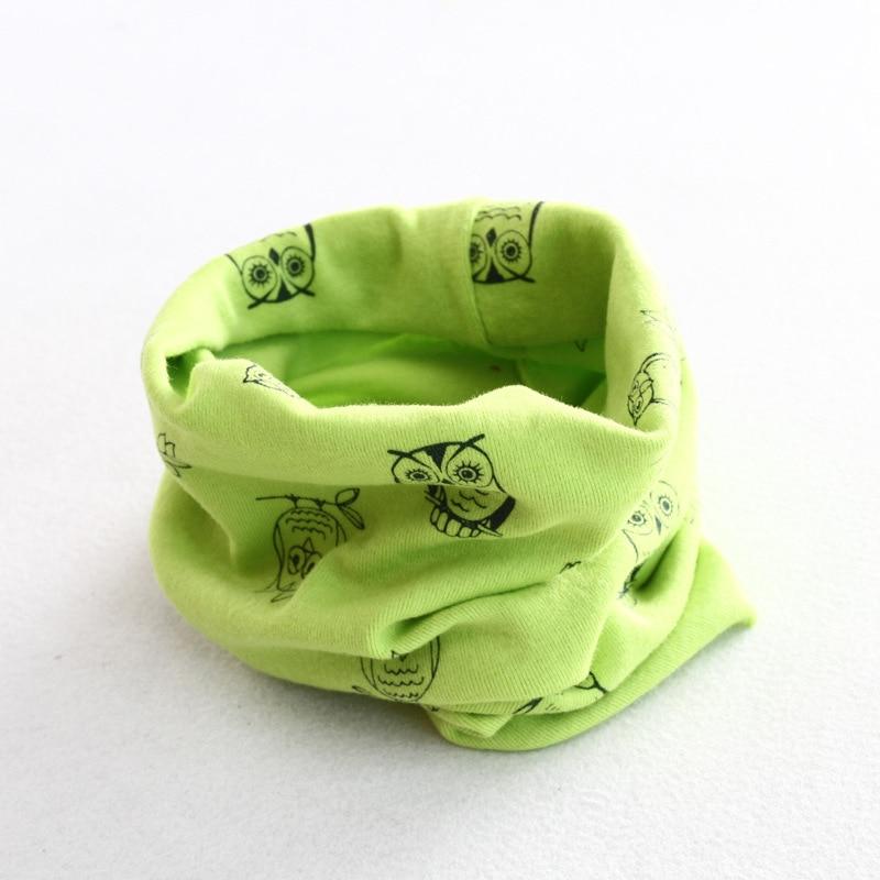 Осенне-зимний детский хлопковый шарф для девочек и мальчиков теплые шарфы Детский круглый кольцевой ошейник Детский шарф детский волшебный шейный платок - Цвет: owl 7