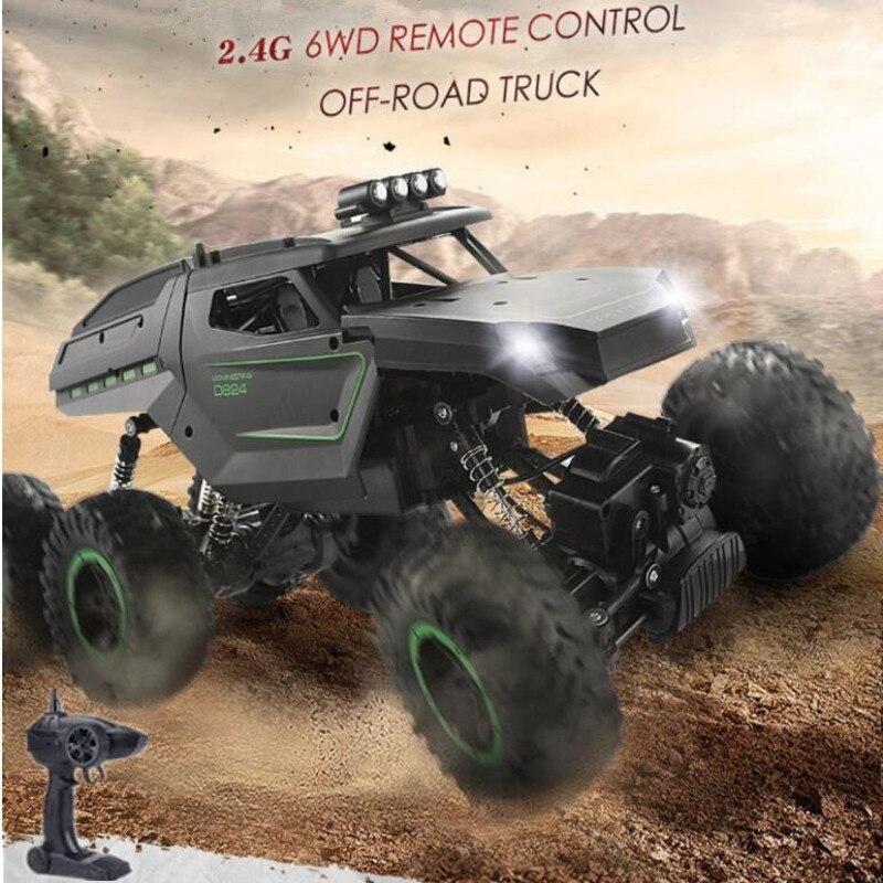 Voiture tout-Terrain professionnelle tout Terrain 6 roues RC 1:12 changement de vitesse 6WD voiture télécommandée électrique haute vitesse avec veilleuse