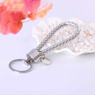 2019 nova mão-tecido couro corda anel chave do carro anel de casal pingente corrente criativa chave chaing cintura pendurado porco ano presentes personalizados