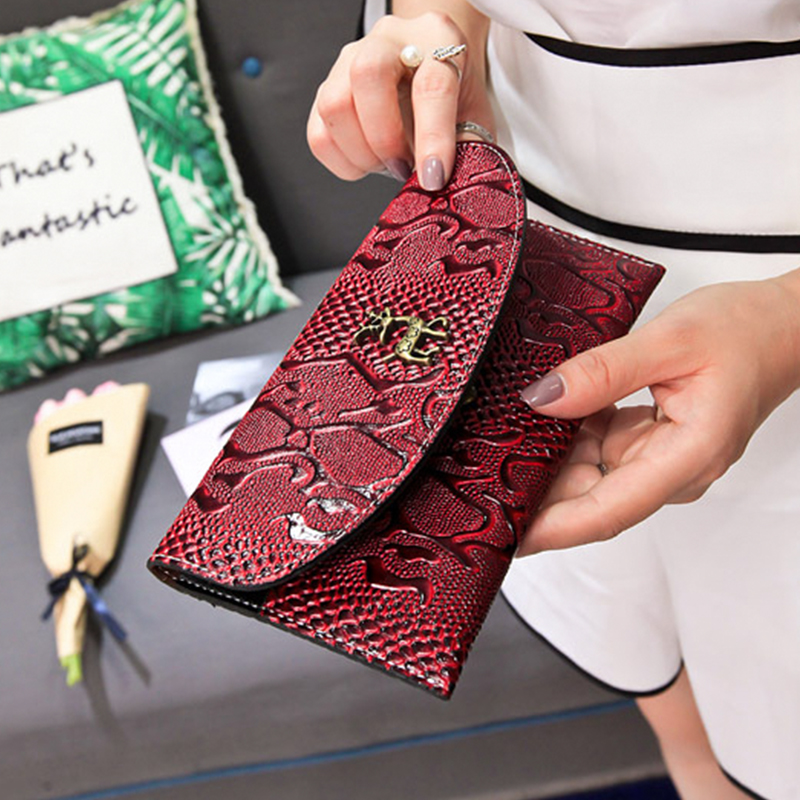 Women's Bags 2018 Women Pu Leather Wallet New Simple Korean Lattice Short Purse Badge Casual Clutch Bag Lady Card Holder Package Bag Omadnn Buy One Give One