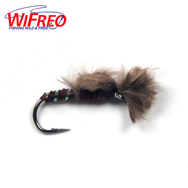 aliexpress : buy 6pcs grey nymph emerger fly for trout fishing, Fly Fishing Bait