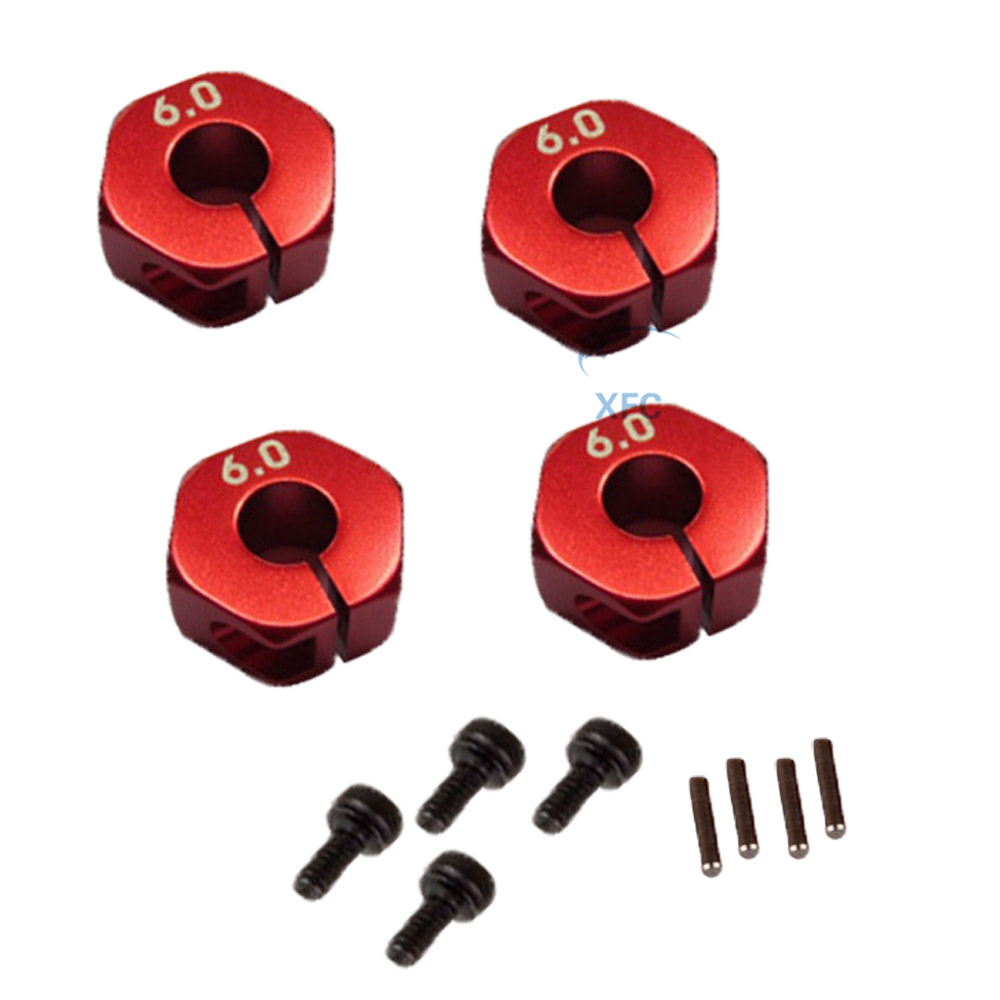 4pcs 1//10 12mm Alumium Wheel Hex Nuts w// Pins Screws for RC Car Traxxas HSP