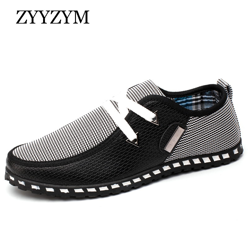 ZYYZYM Men Casual Shoes Light Breathable Summer Driving Shoes For Man - Men's Shoes - Photo 1