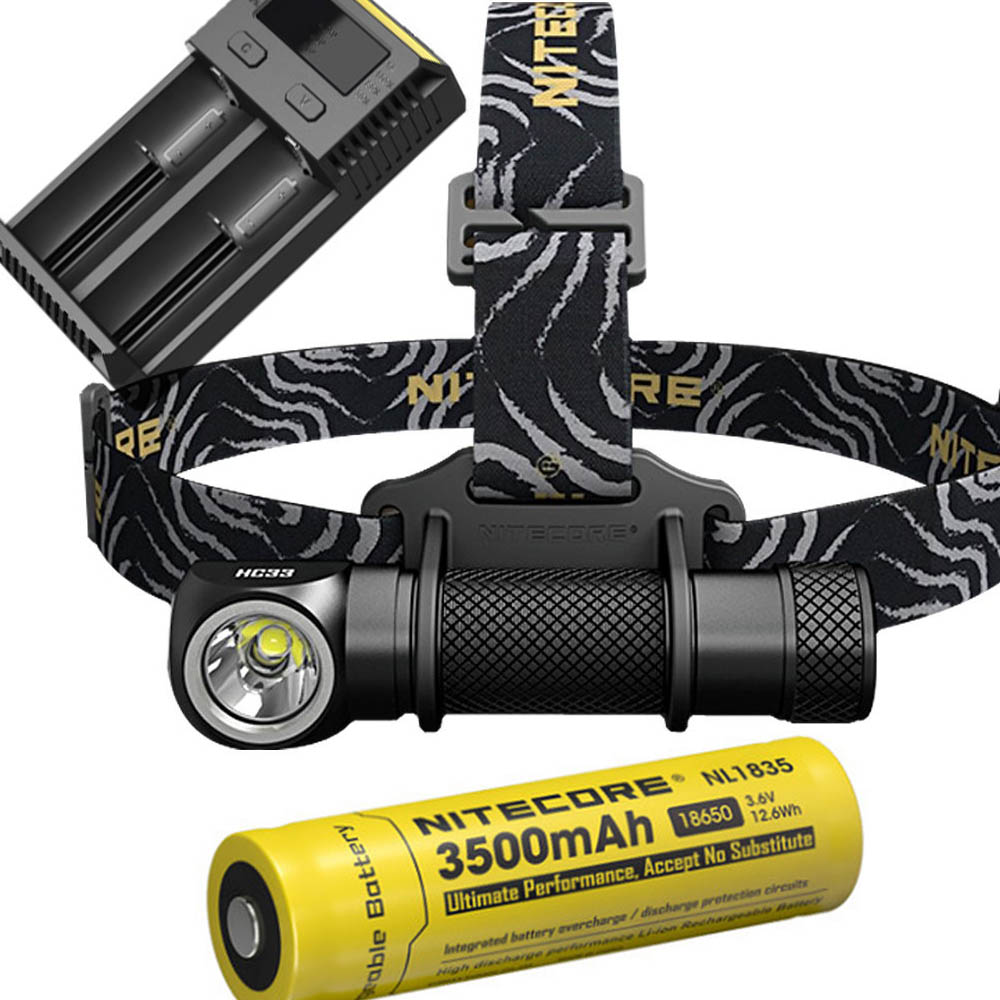 NITECORE HC33 Headlight Kit CREE XHP35 HD MAX. 1800 Lumen headlamp 8 working modes outdoor led head light for search bicycle
