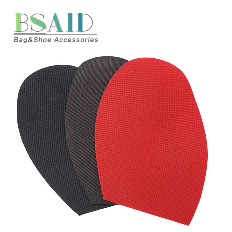 BSAID 1 Pair Repair Rubber Shoe Sole, Anti Slip Protective Half Soles, Outsole Forefoot Pads, Repairs Shoe Supplies Transparent