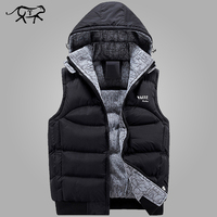 New Stylish Autumn Winter Vest Men High Quality Hood Warm Sleeveless Jacket Waistcoat Men S Vest