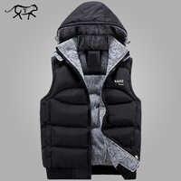 Nouveau élégant automne hiver gilet hommes de haute qualité capuche chaude sans manches veste gilet hommes gilet homme mode manteaux décontractés hommes