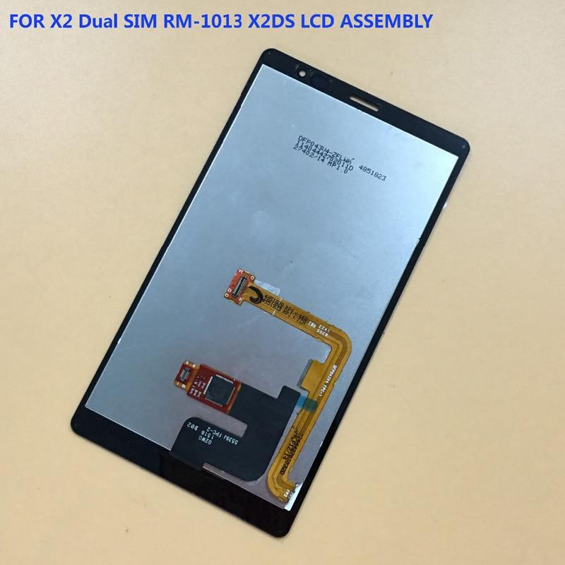 Für Nokia X2 Dual SIM RM-1013 X2DS Touchscreen Digitizer-bereich Sensor Glas + LCD Display Panel Screen Modul Monitor montage