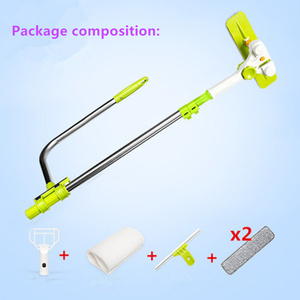 Image 4 - Hot Upgraded Telescopic High rise Window Cleaning Glass Cleaner Brush For Washing Window Dust Brush Household cleaning tools