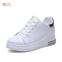 Female White Platform Shoes for Women Sneakers Women Wedges Shoes for Women Flats High Heel Wedge Ladies Shoes Zapatillas Mujer
